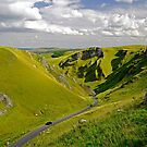 Winnats Pass near Castleton by Rod Johnson