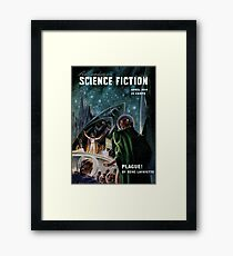 Vintage Astonishing Science Fiction Pulp Stories Space Travel Framed Print