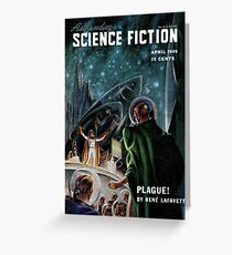 Vintage Astonishing Science Fiction Pulp Stories Space Travel Greeting Card