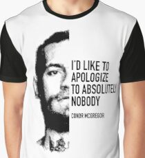 McGregor - Apologise to absolutely nobody Graphic T-Shirt