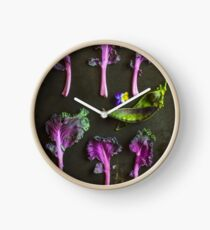 Kale and peas Clock