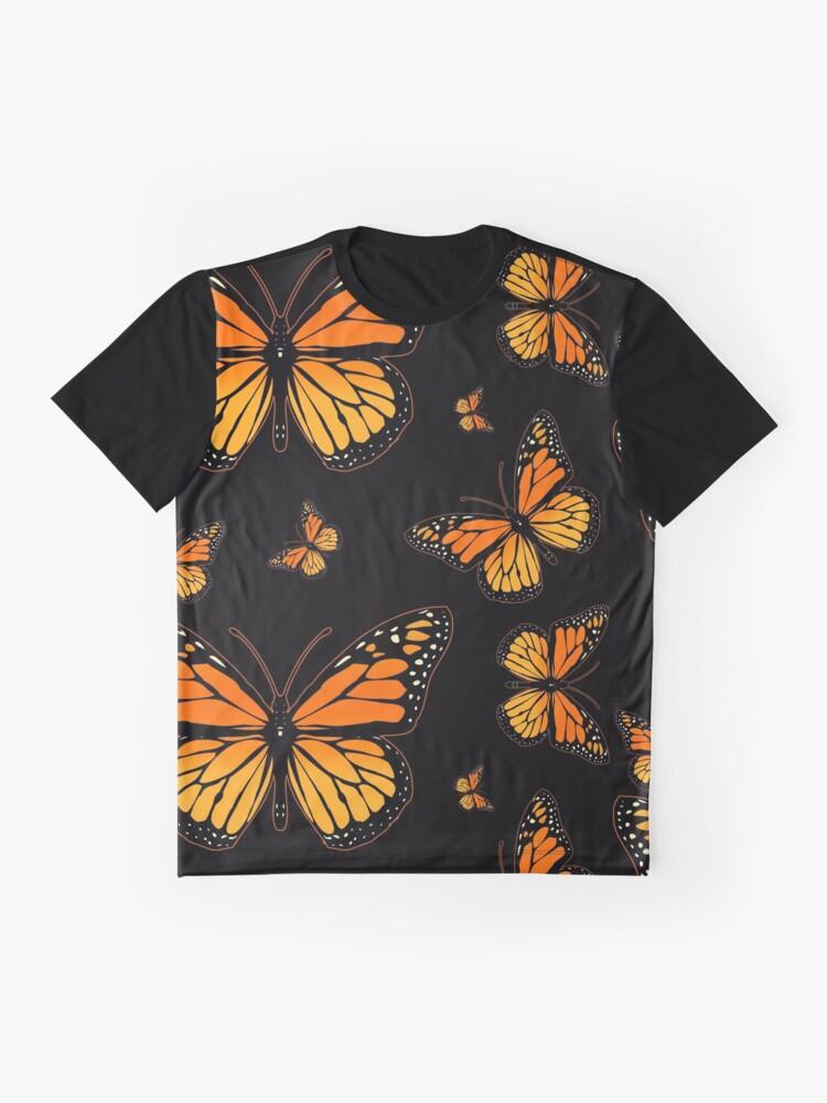 Vista alternativa de Camiseta gráfica Mariposa monarca Rapsody