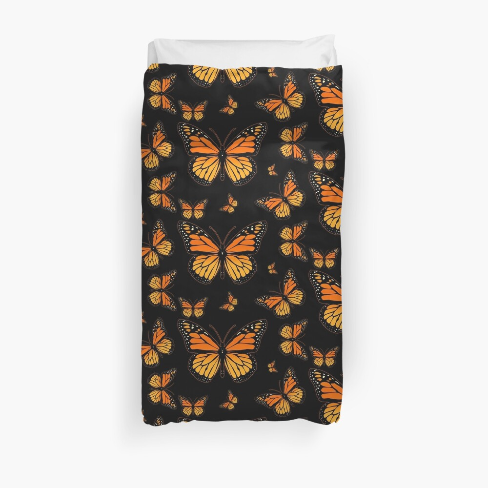 Monarch Butterfly Rapsody Duvet Cover