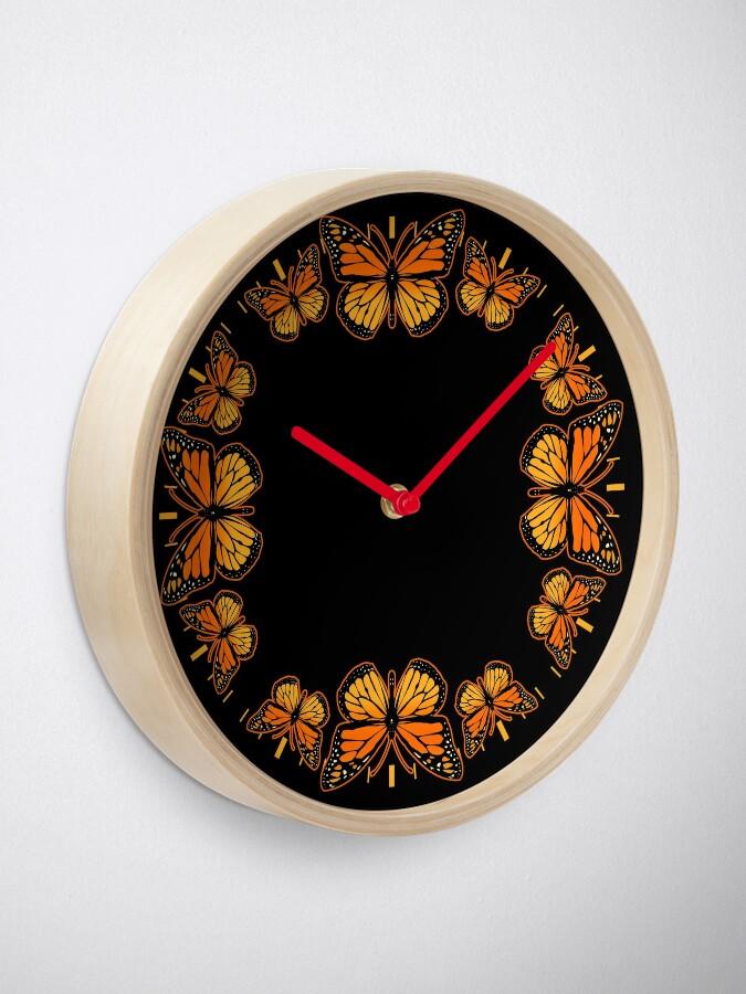 Alternate view of Monarch Butterfly Rapsody Clock