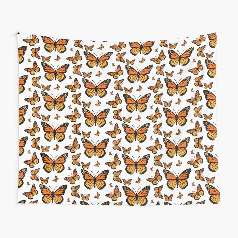 Monarch Butterfly Rapsody Wall Tapestry