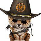 Netter Leopard Cub Zombie Hunter von jeff bartels