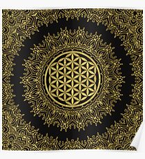 Flower Of Life Mandala Poster