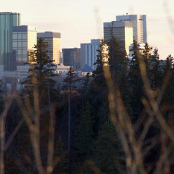 Edmonton Skyline Panorama by eadnams