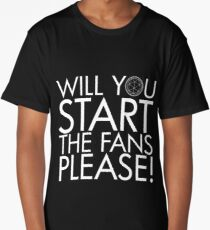 WILL YOU START THE FANS PLEASE! - THE CRYSTAL MAZE - Classic Retro TV Game Show Long T-Shirt