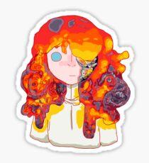Burning Girl Sticker