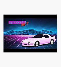 Mazda RX7 FC Photographic Print