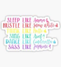 Live Like Disney Princesses Sticker