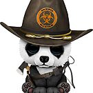 Baby Panda Bär Zombie Jäger von jeff bartels