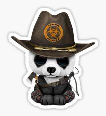 Baby Panda Bear Zombie Hunter Sticker