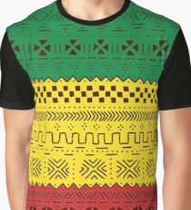 African Traditional Pattern rasta Graphic T-Shirt