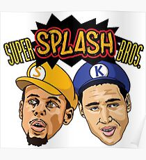 Stephen Curry and Klay Thompson Super Splash Bros Poster