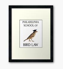 Philadelphia School of Bird Law Framed Print