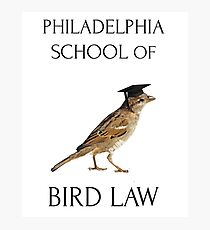 Philadelphia School of Bird Law Photographic Print