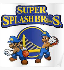 Steph Curry And Klay Thompson Super Splash Bros  Poster