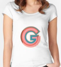Chunky vibrant alphabet: G Women's Fitted Scoop T-Shirt