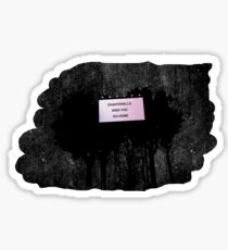 Chanterelle Miss you Go home Sticker