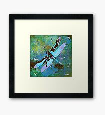 EARTH TONES DRAGONFLY Framed Print