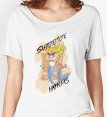 Summertime Happiness-Mermaid Women's Relaxed Fit T-Shirt