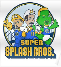 Stephen Curry And Klay Thompson Super Splash Bros. Poster