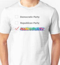 """Mario Party"" Political Party Unisex T-Shirt"