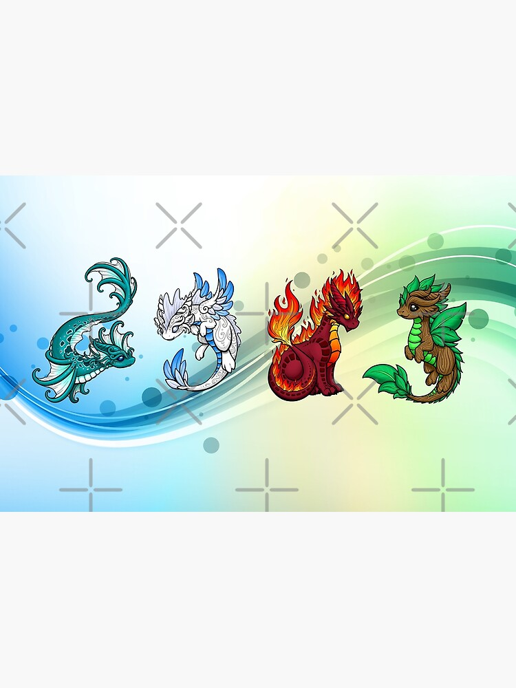 Four Elements - Dragons by bgolins