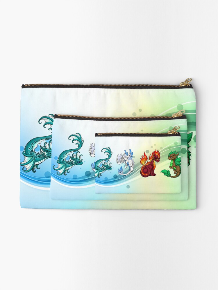Alternate view of Four Elements - Dragons Zipper Pouch
