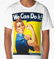 We Can Do It! Retro vintage WWII Design Long T-Shirt
