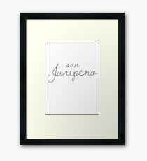 San Junipero 1 Framed Print