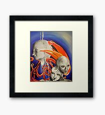 Aliens on Drugs Framed Print