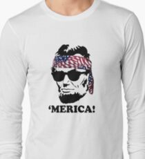 Funny Abe Lincoln 'Merica Shirt: Patriotic, Hip, & American! T-Shirt