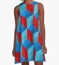 Cube Pattern I A-Line Dress