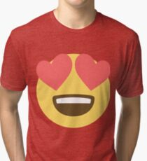 Smiling face with heart eyes Tri-blend T-Shirt