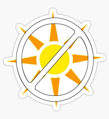 "Say ""NO!"" to Sunlight!!!! (Vampire Activism) Sticker"