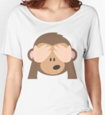 See-no-evil monkey Emoji Women's Relaxed Fit T-Shirt