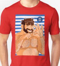ADAM LIKES NAKED FUN - SAILOR STRIPES Unisex T-Shirt