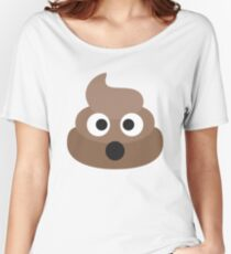 Poop Emoji Women's Relaxed Fit T-Shirt