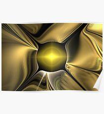 Gold Silk Desert Poster