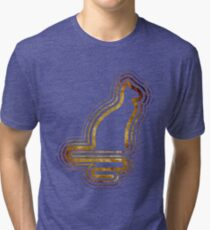 Retrocat Grungy Tri-blend T-Shirt