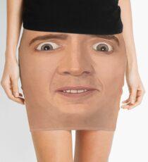 Creepy Cage Face Mini Skirt