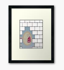The Scream- Another Rick in the Wall Framed Print