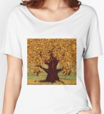 Abstract digital illustration of autumn fantasy tree 2 Women's Relaxed Fit T-Shirt