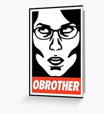 OBROTHER Greeting Card