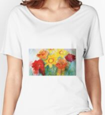 Mothers Day Bouquet K Women's Relaxed Fit T-Shirt