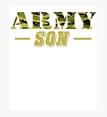 Army Son - Proud Army Son T-Shirt Photographic Print