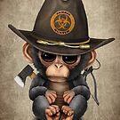 Baby-Schimpansen-Zombie-Jäger von jeff bartels